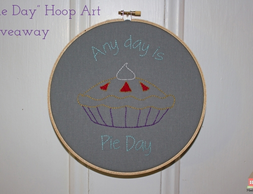 Pi Day Giveaway! Pie Day Hoop Art