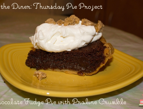 In the Diner: Thursday Pie Project–Chocolate Fudge Pie with Praline Crumble