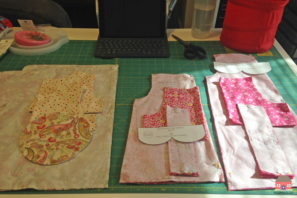 WIP Wednesday: Dresses cut out