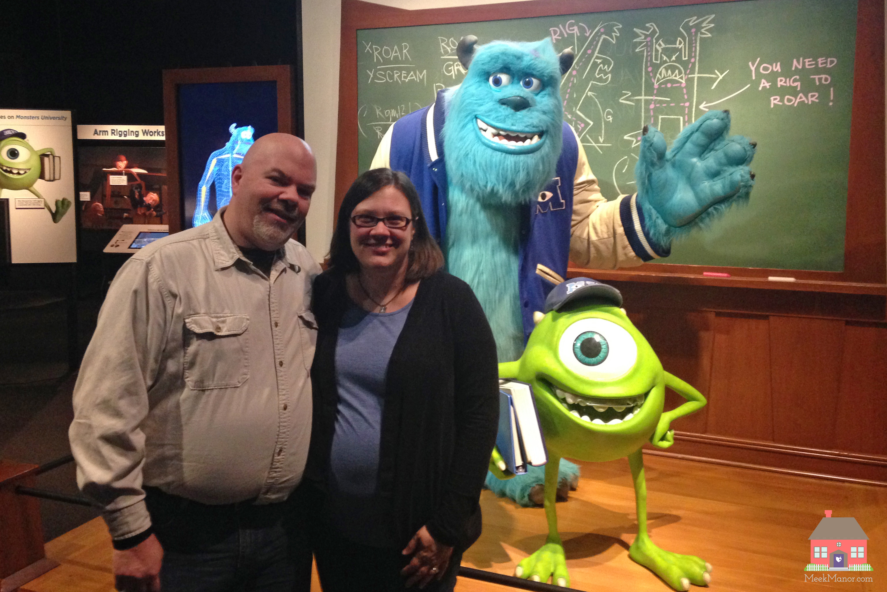 Lloyd and Valerie at Pixar Exhibit
