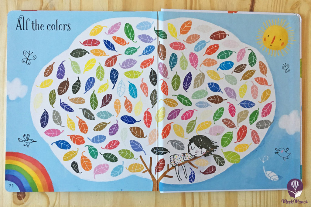 Inside Usborne's Big Book of Colors: All colors spread