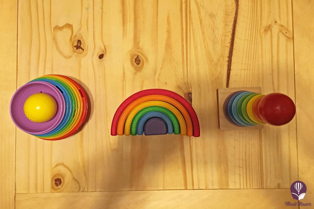 Rainbow stacker toys