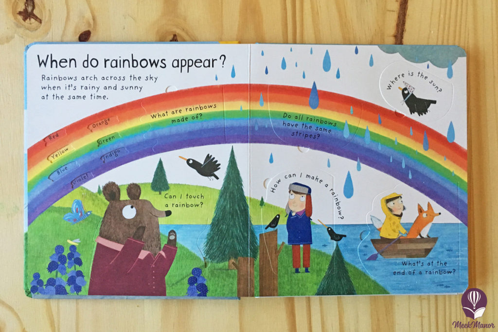 What Makes it Rain? Book inside - rainbow page