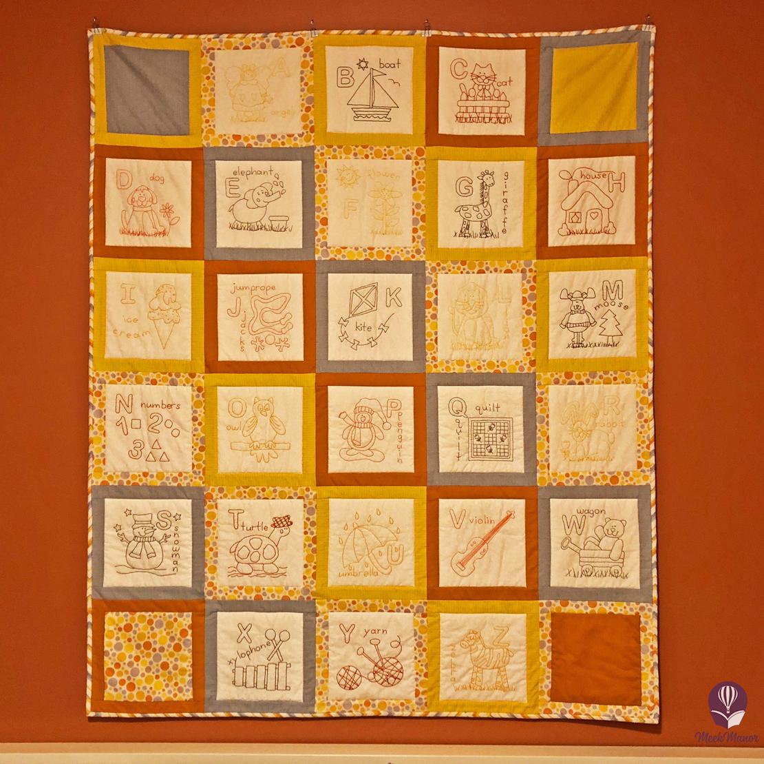 Patrick's Spot--ABC quilt