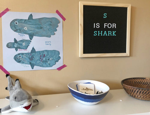 Footprint Shark Family Craft