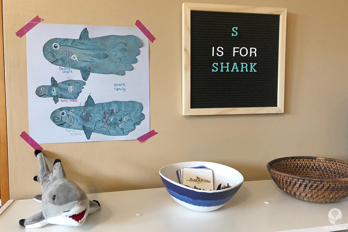 Footprint Shark Family Craft